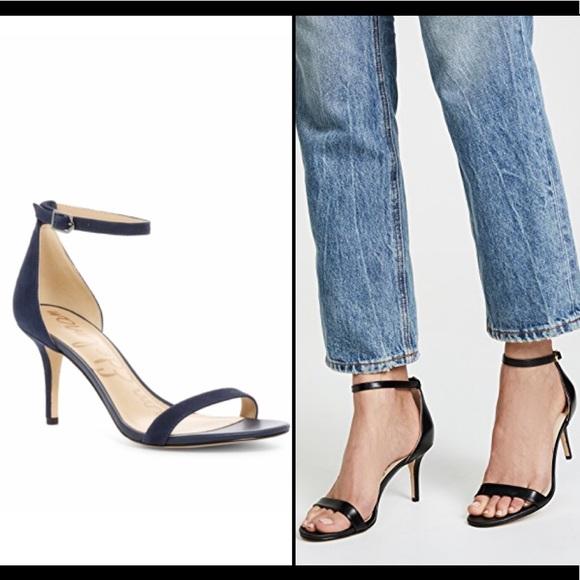 17c32b9cd12 Sam Edelman Patti Ankle Strap Sandal. Navy